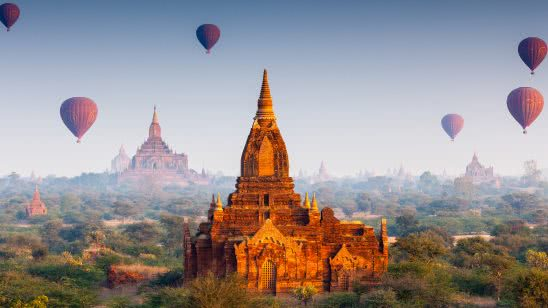 buddhist temples bagan myanmar uhd 4k wallpaper