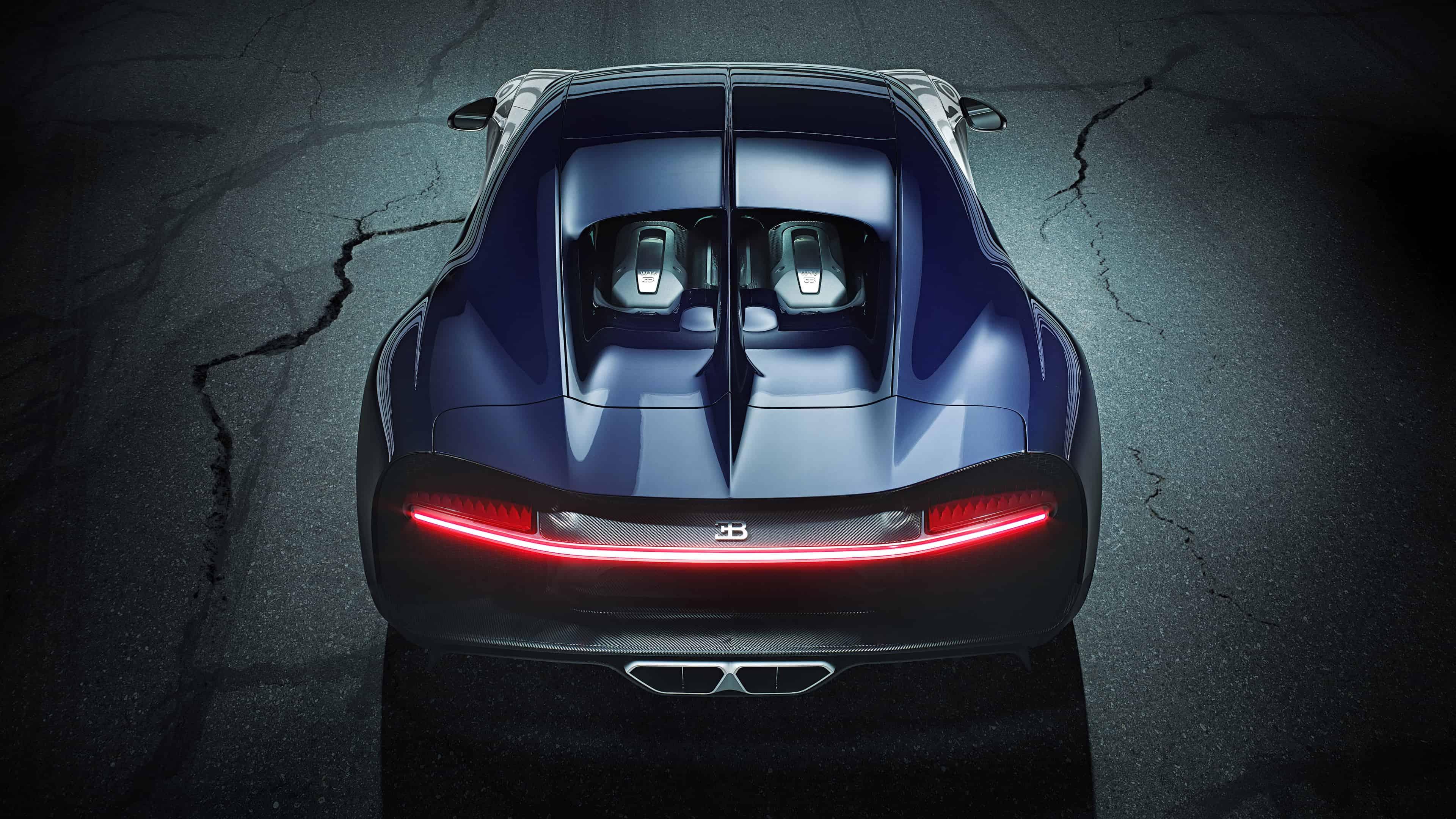 bugatti chiron sport rear uhd 4k wallpaper