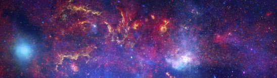 center of milky way galaxy dual monitor wallpaper
