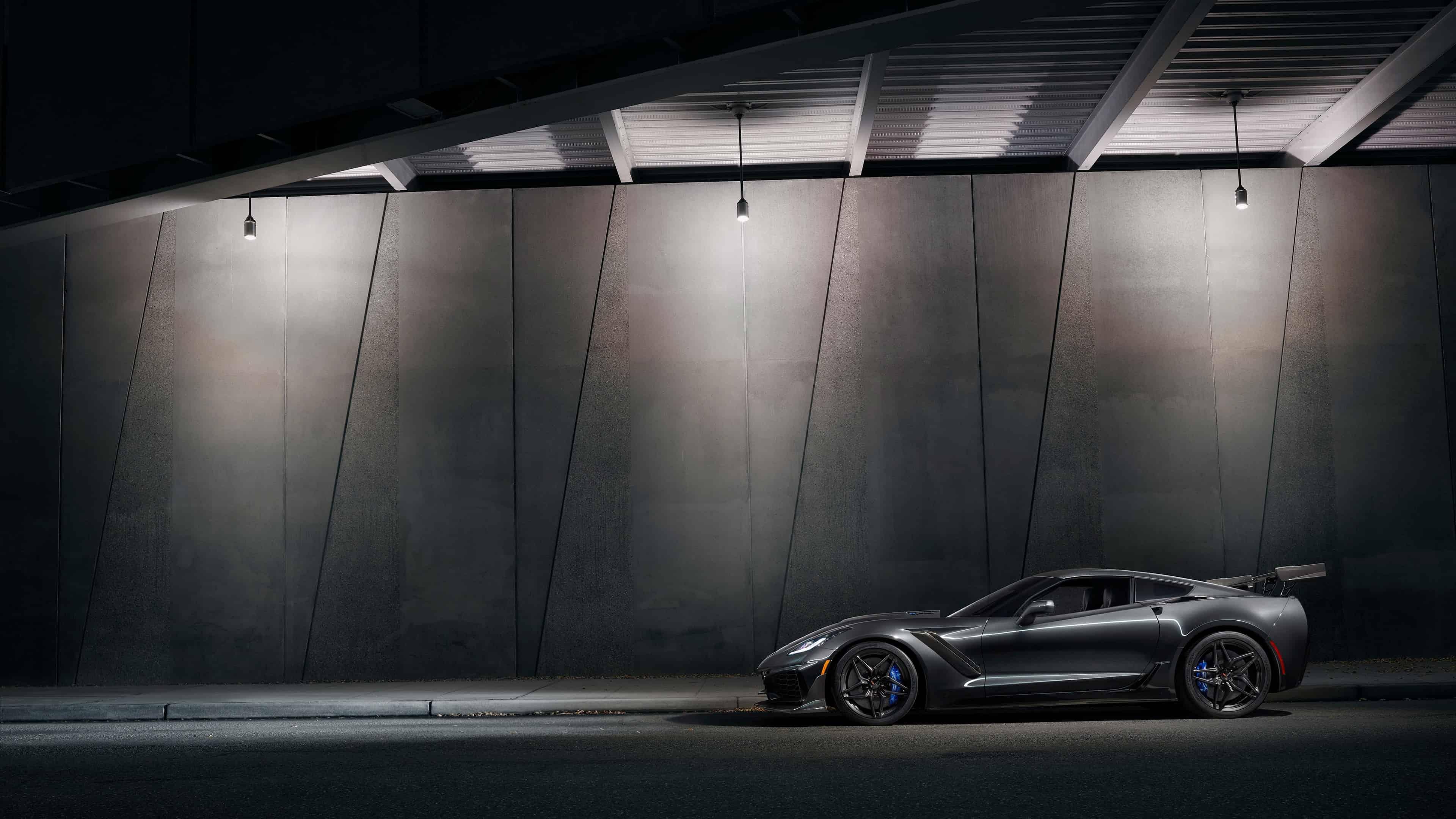 chevrolet corvette zr1 black side uhd 4k wallpaper