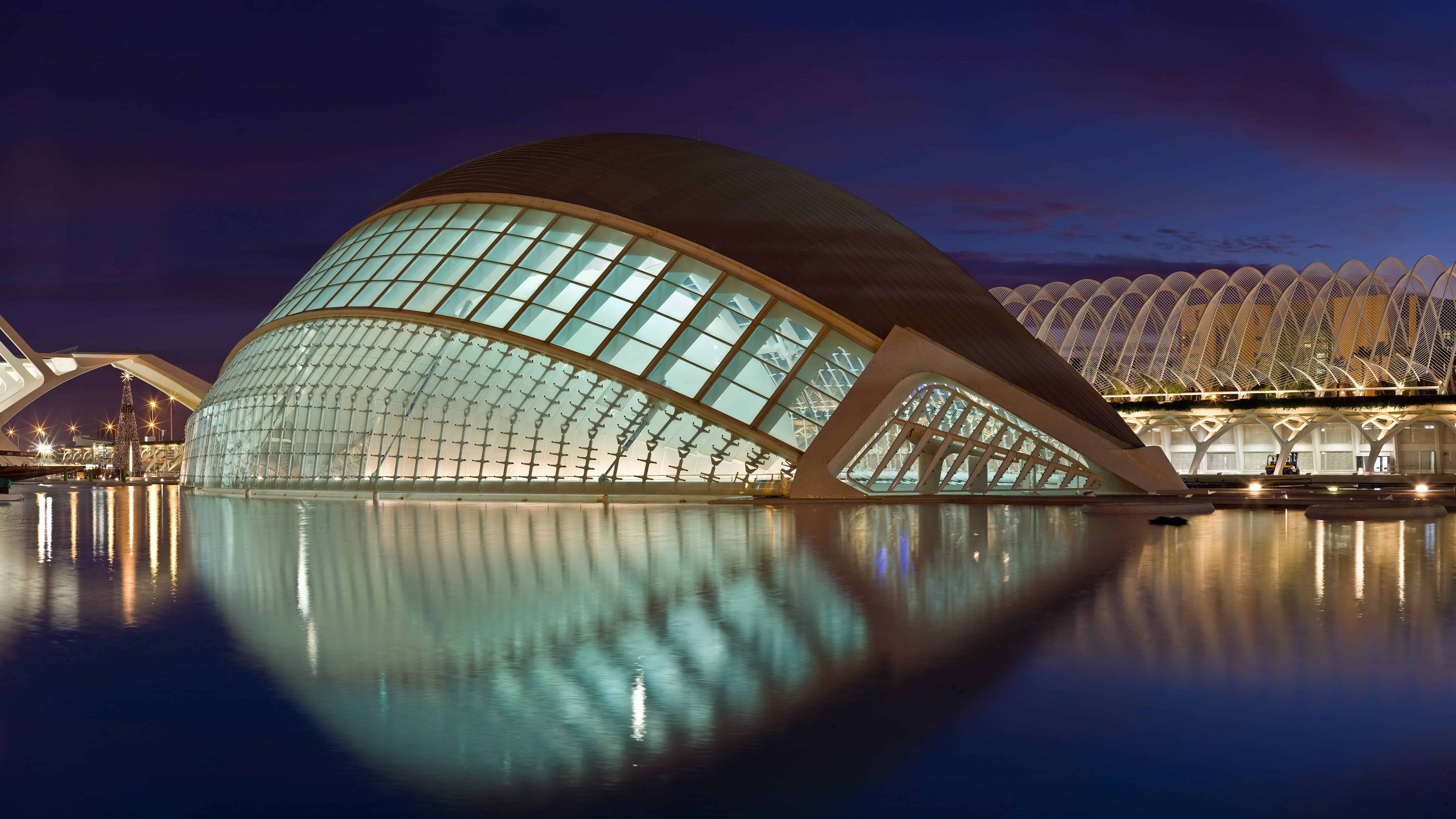 city of the arts and the sciences complex valencia spain uhd 8k wallpaper