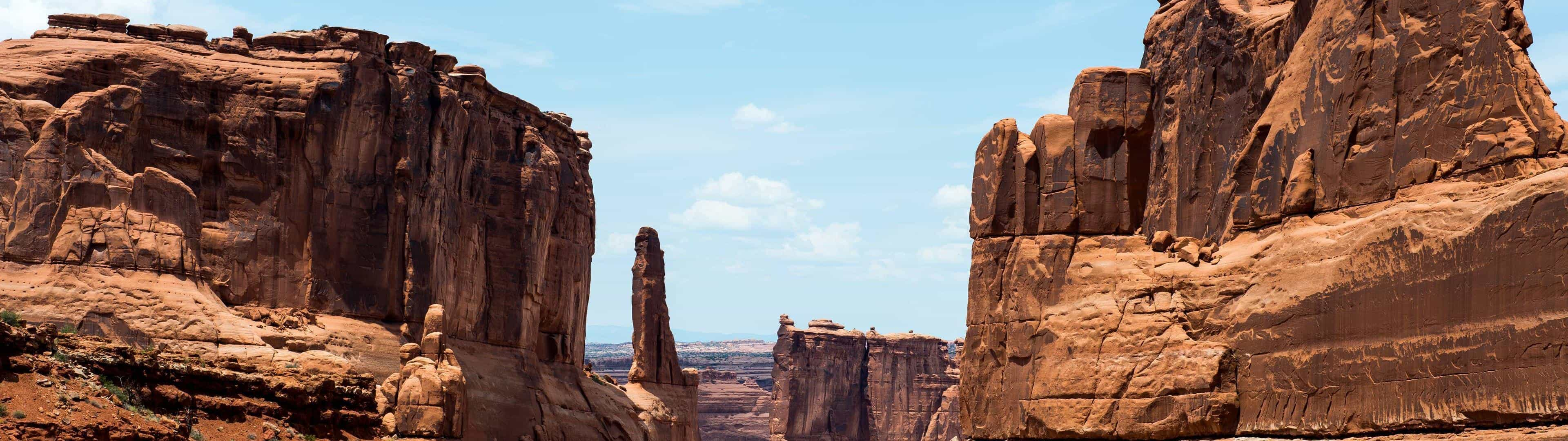 courthouse towers arches national park united states dual monitor wallpaper