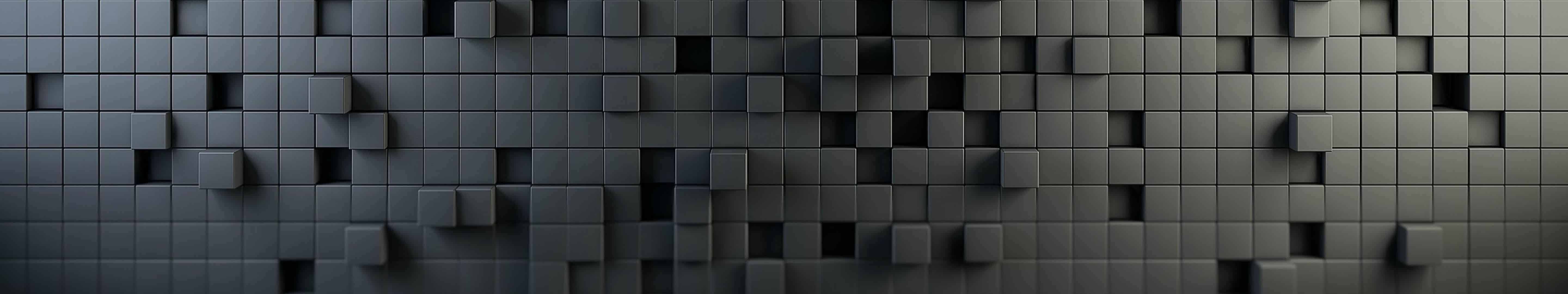 cube texture grey triple monitor wallpaper