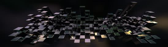 cubes silver dual monitor wallpaper