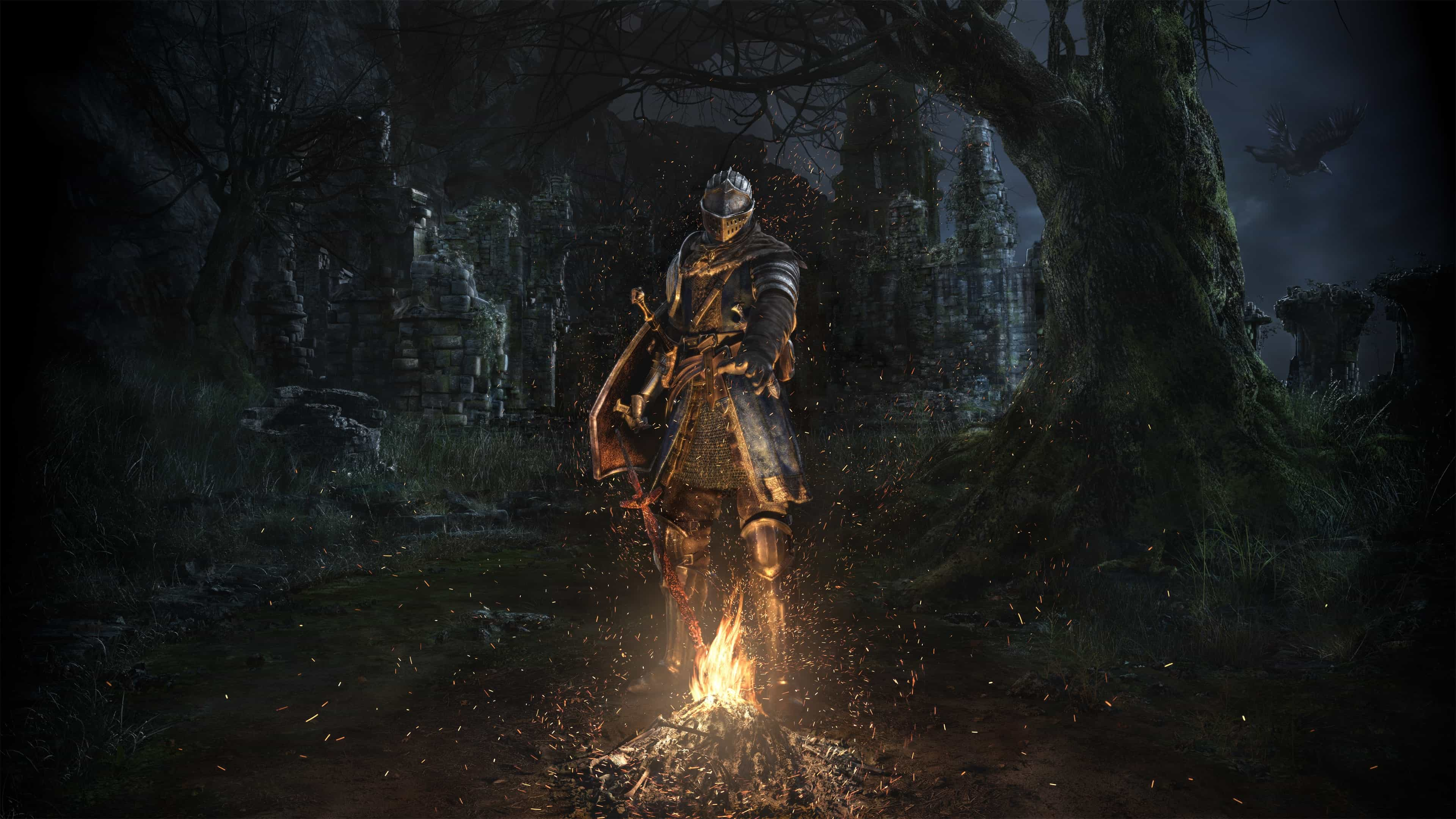 dark souls remastered fire uhd 4k wallpaper