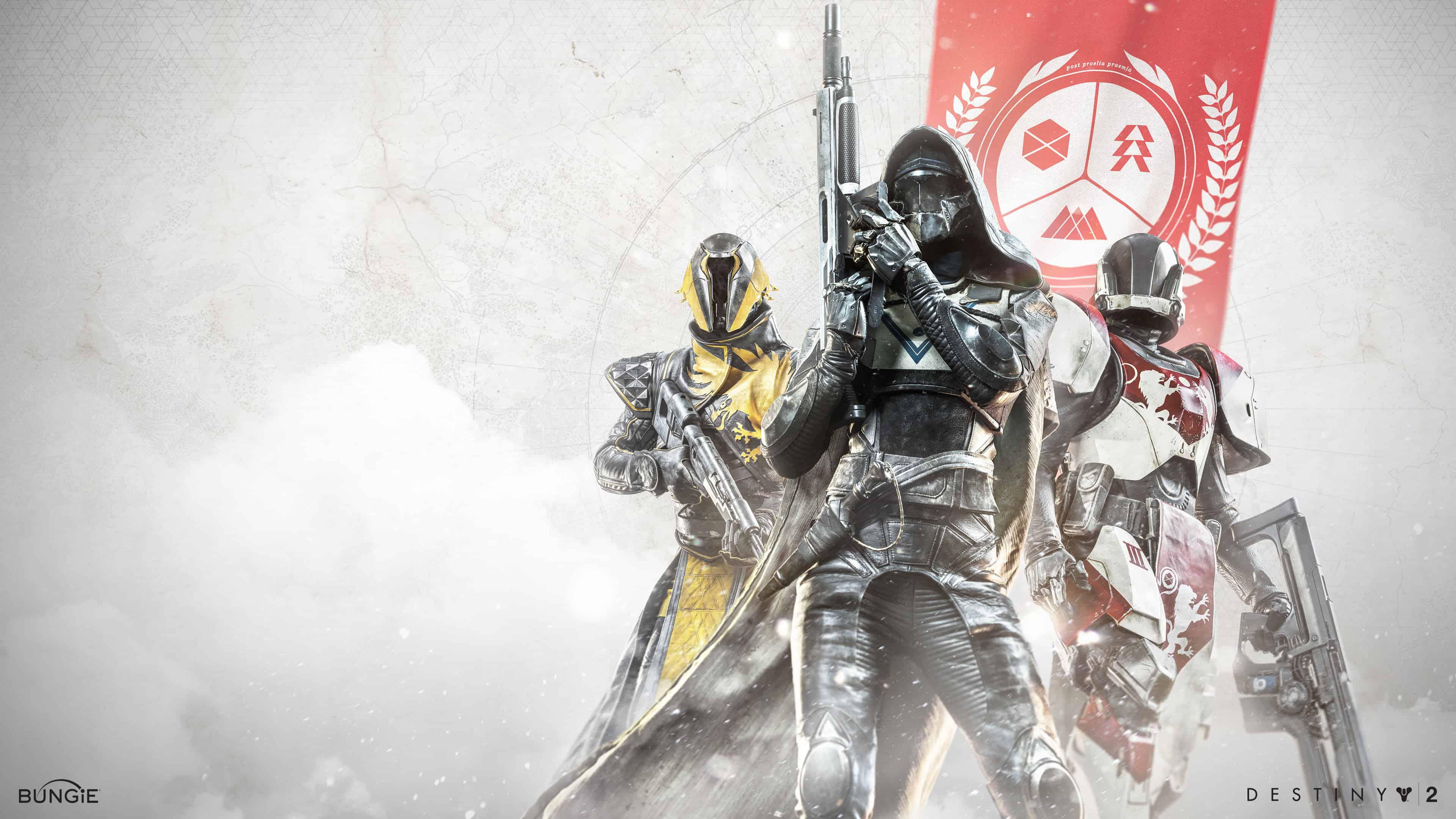 destiny 2 warlock hunter titan uhd 4k wallpaper