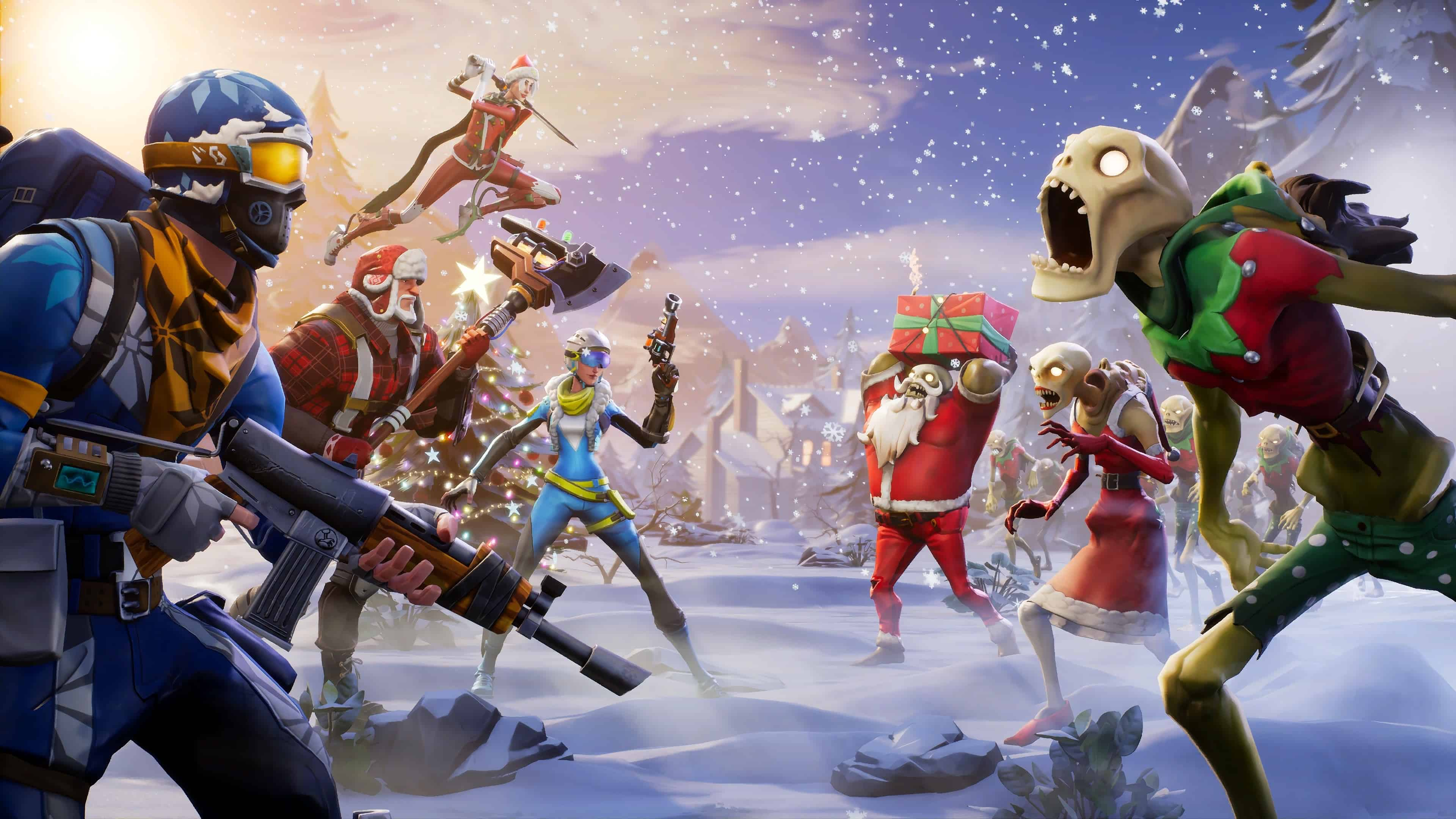 Fortnite winter season uhd 4k wallpaper pixelz - 4k fortnite wallpaper ...