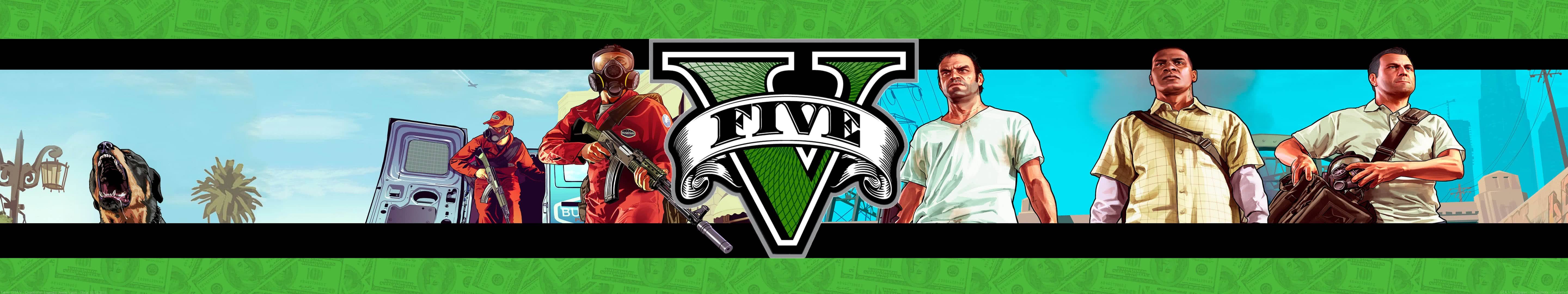 grand theft auto five trevor franklin and michael triple monitor wallpaper