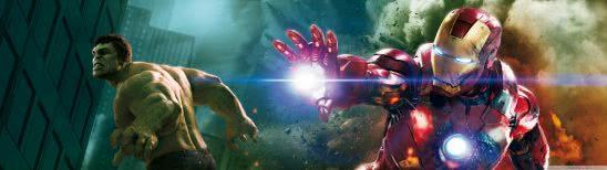 iron man and the hulk dual monitor wallpaper