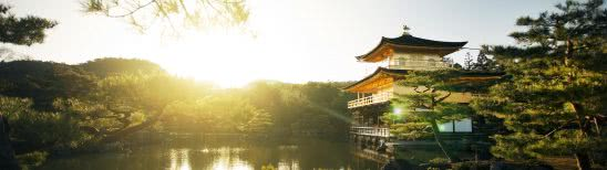 kinkaku ji rokuon ji golden pavilion kyoto japan dual monitor wallpaper