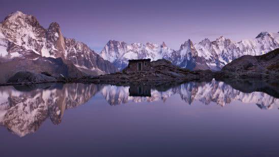 lac blanc white lake chamonix valley, france uhd 4k wallpaper