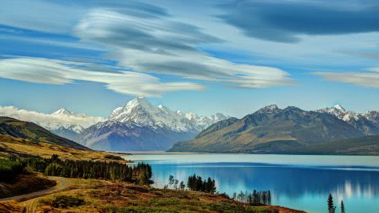 lake pukaki new zealand uhd 4k wallpaper