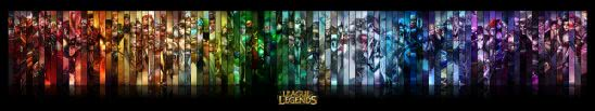 league of legends champions triple monitor wallpaper