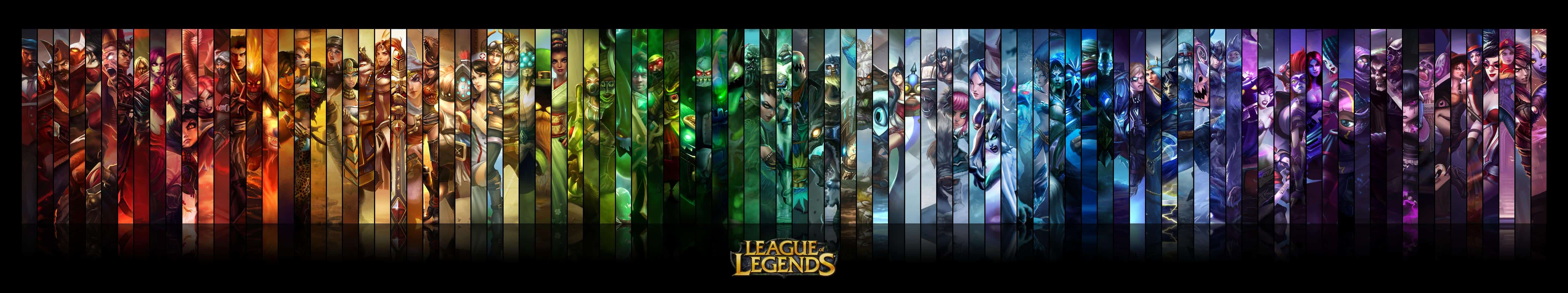 League Of Legends Champions Triple Monitor Wallpaper Pixelz