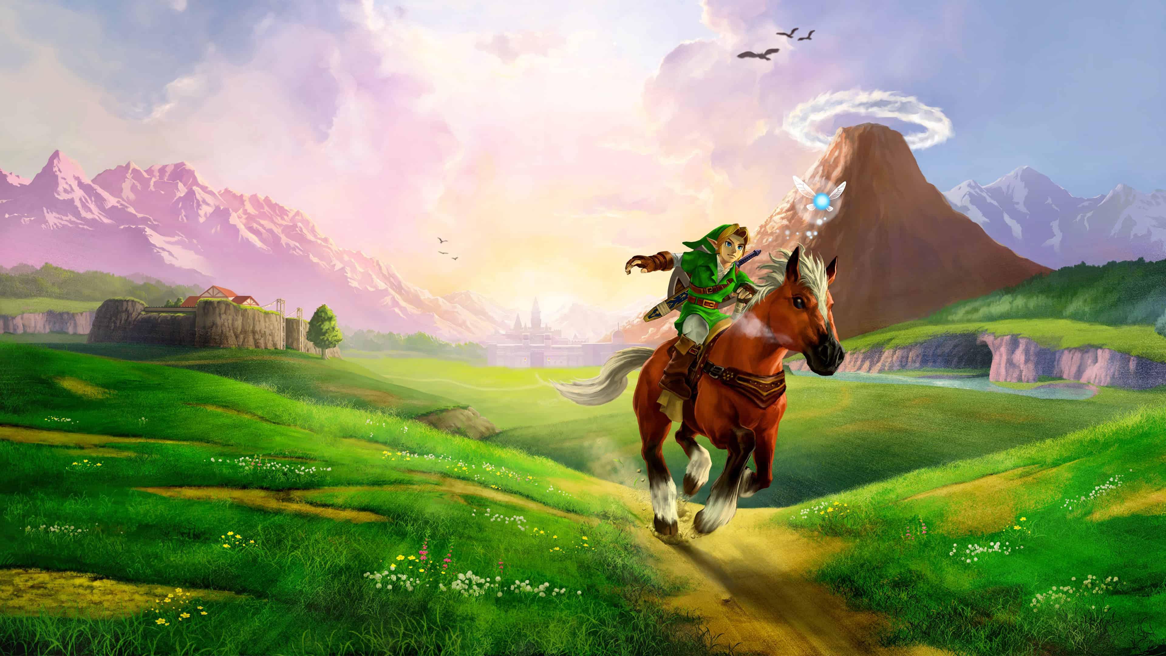 legend of zelda ocarina of time link riding horse uhd 4k wallpaper