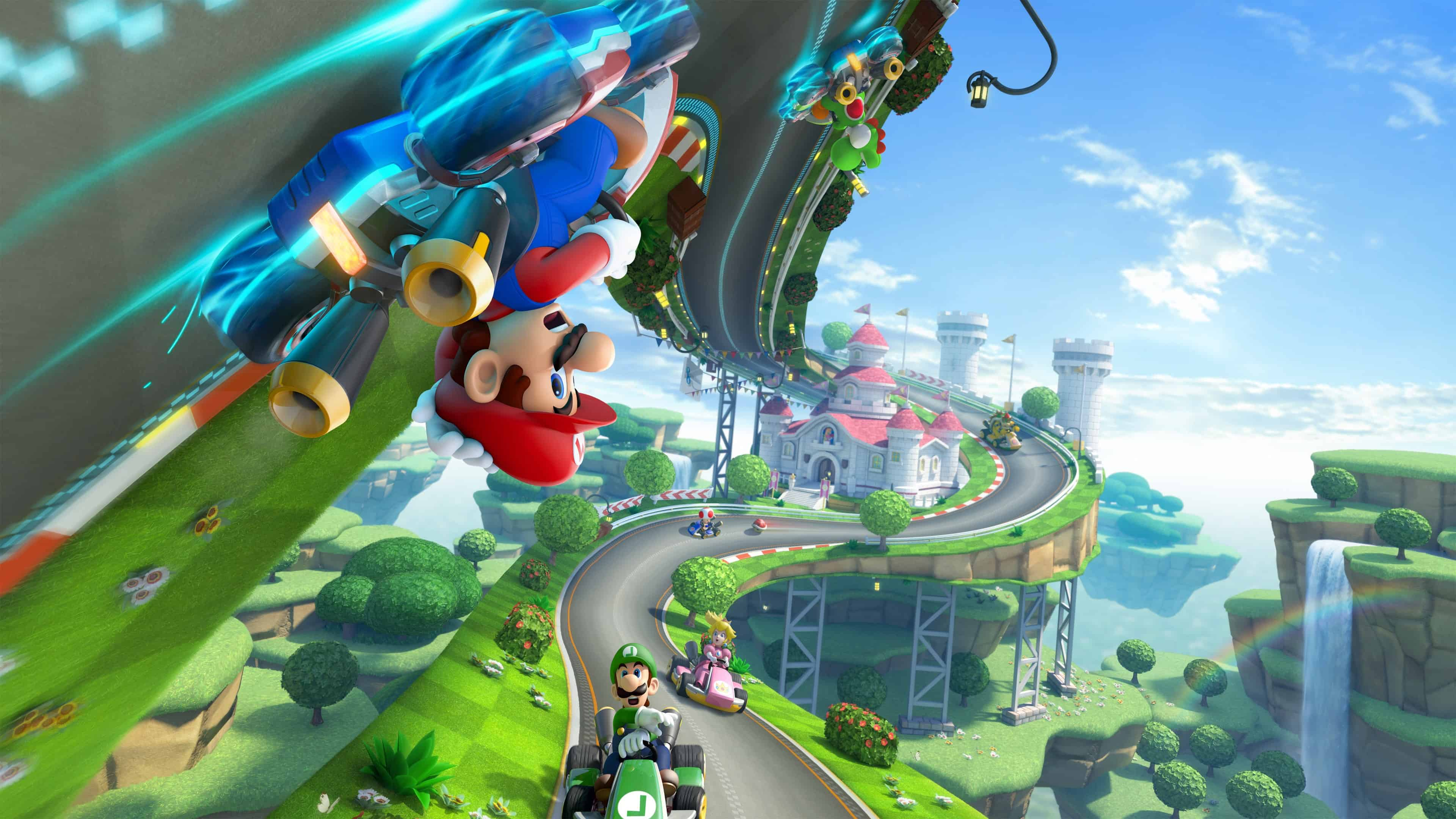 Mario Kart 8 Background: Mario Kart 8 UHD 4K Wallpaper