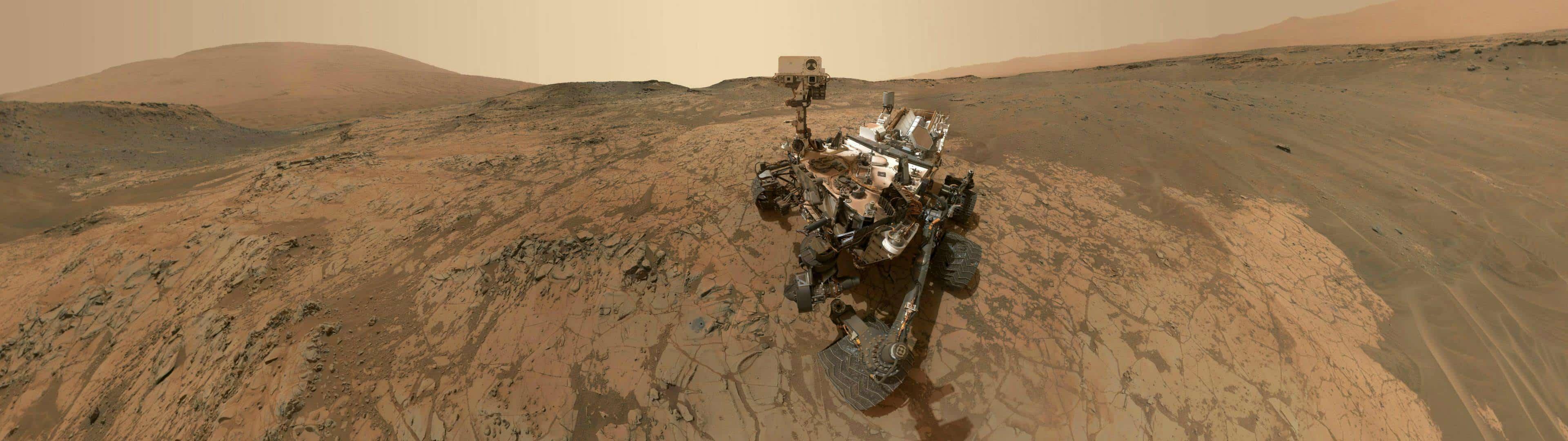 mars curiosity rover dual monitor wallpaper