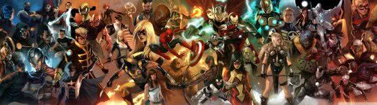 marvel comics characters dual monitor wallpaper