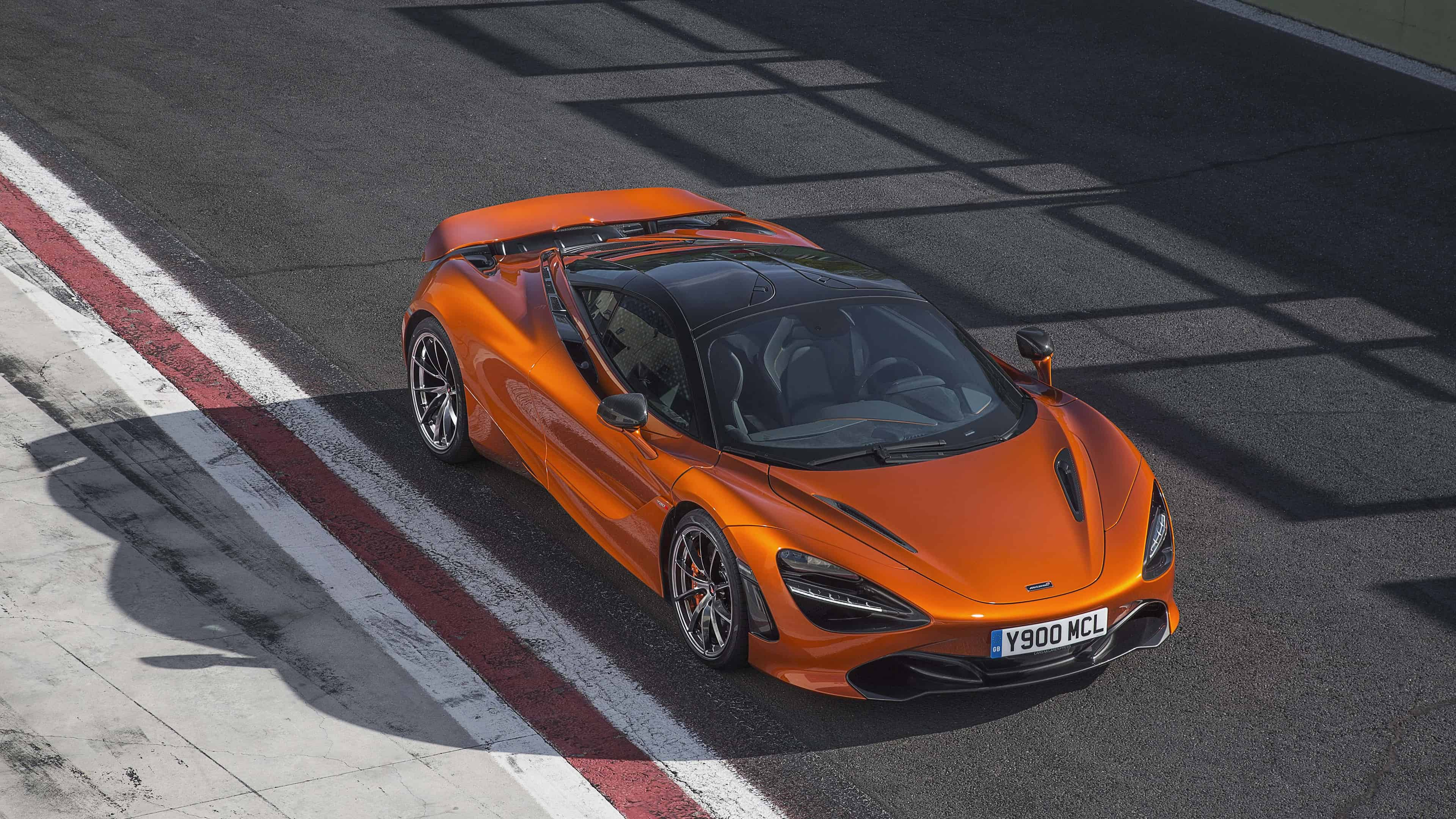 mclaren 720s orange uhd 4k wallpaper