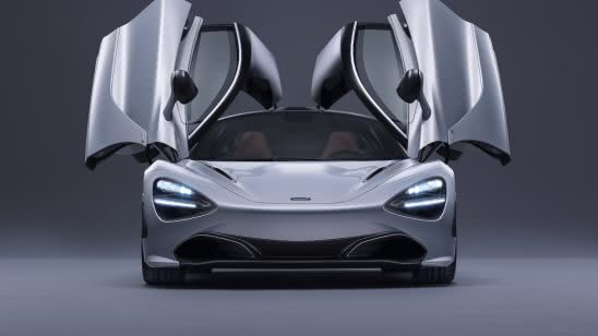 mclaren 720s white doors up uhd 4k wallpaper