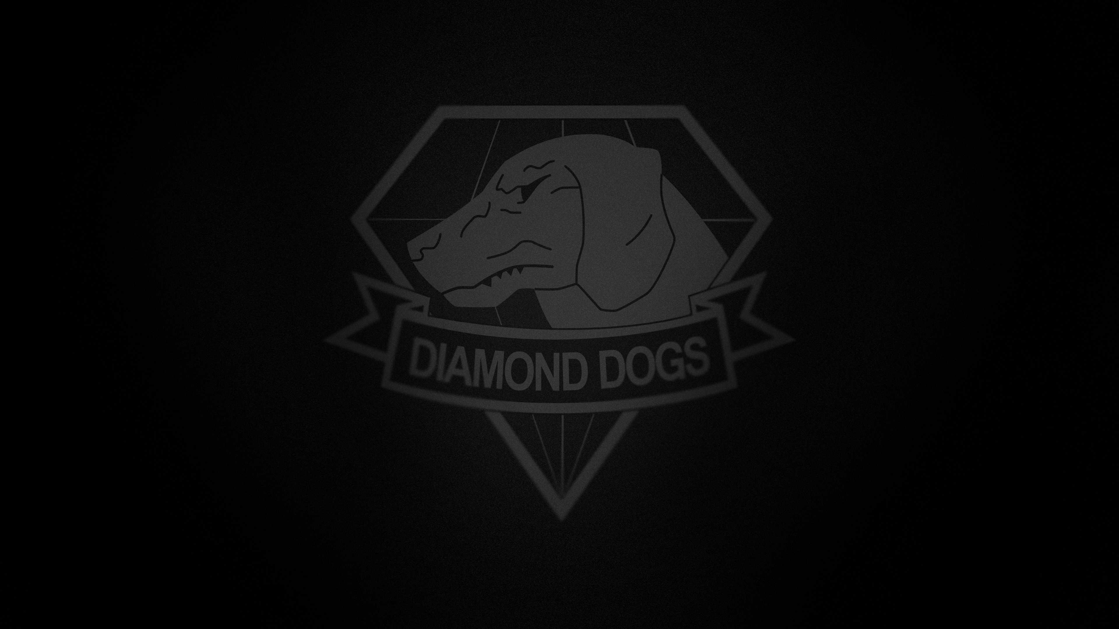 metal gear solid 5 phantom pain diamond dogs logo uhd 4k wallpaper