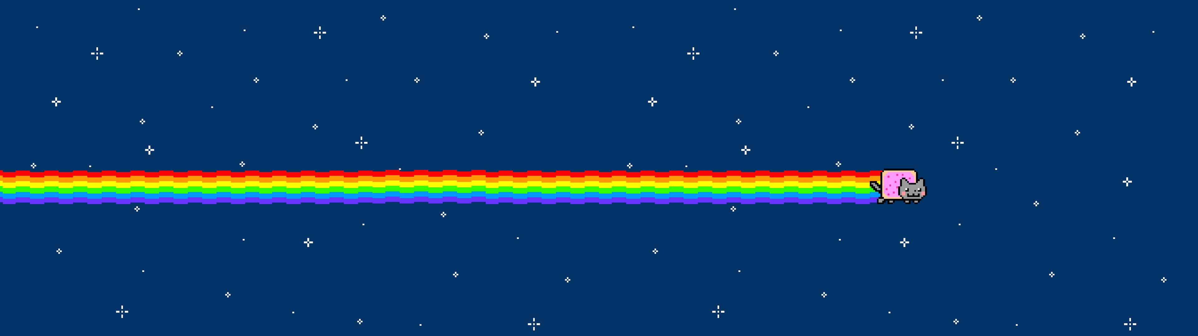 Nyan Cat Dual Monitor Wallpaper | Pixelz