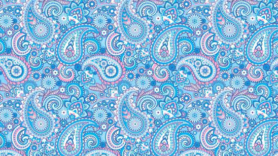 paisley pattern blue and pink uhd 4k wallpaper