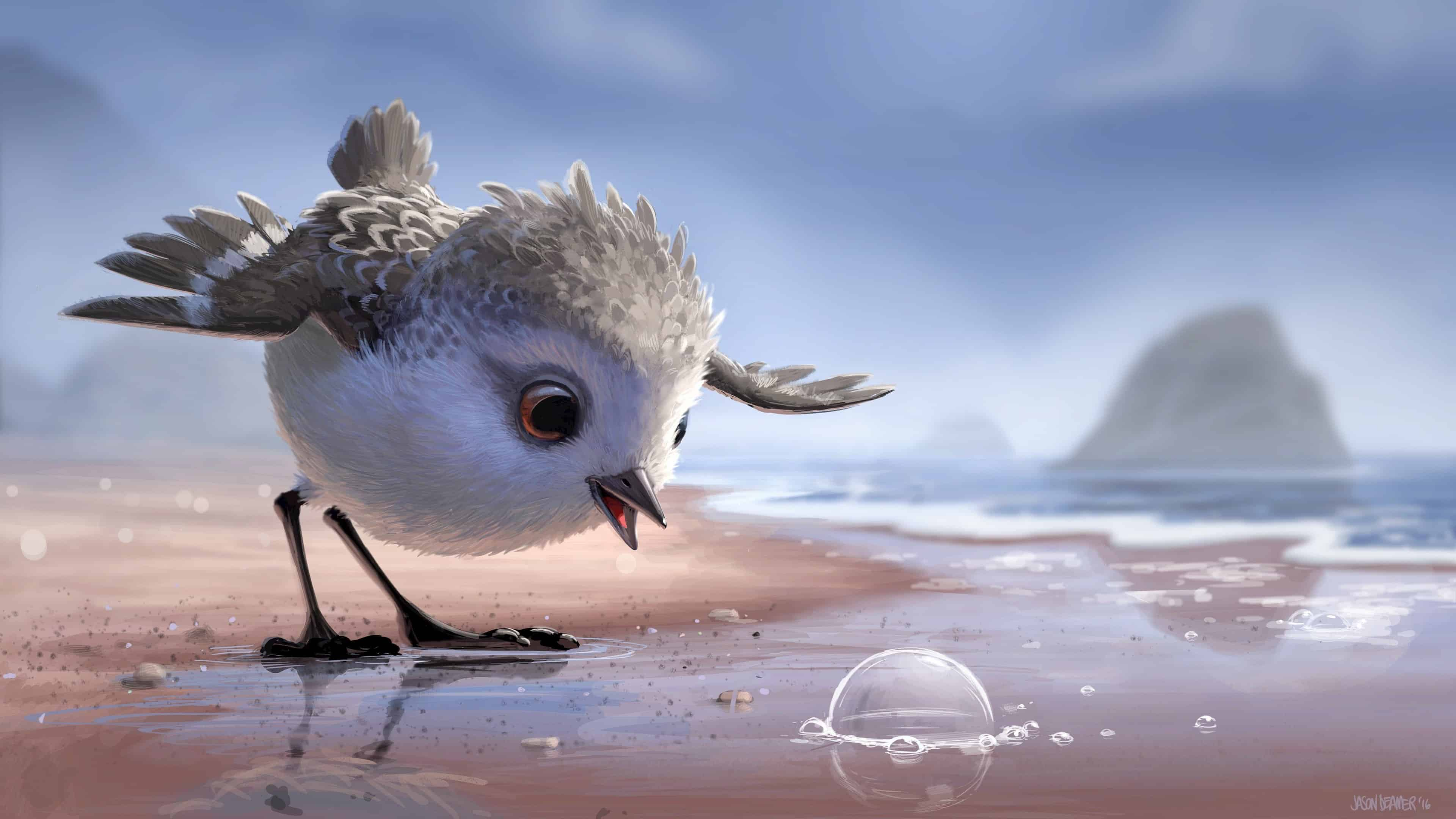 piper pixar short film uhd 4k wallpaper