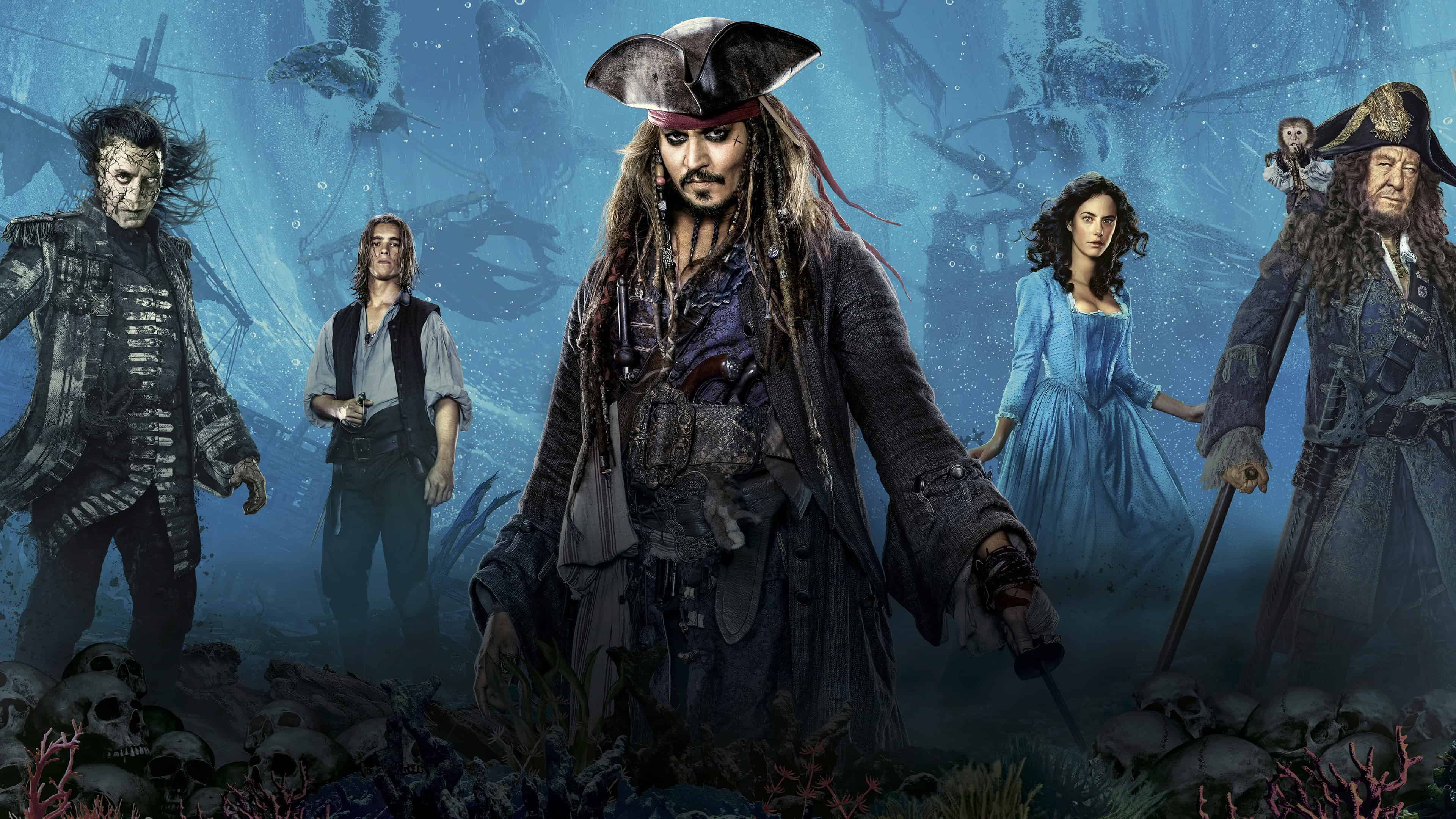Pirates Of The Caribbean Dead Men Tell No Tales 4k Wallpaper Pixelz