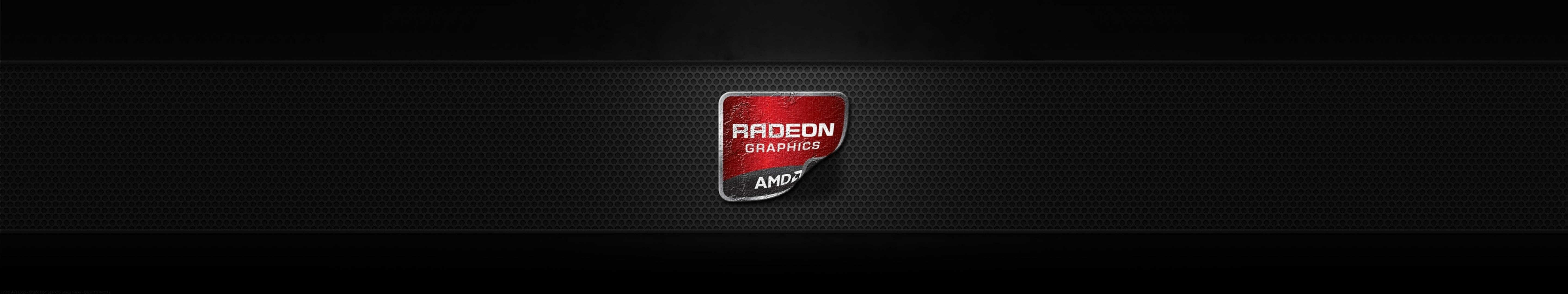 radeon graphics sticker triple monitor wallpaper