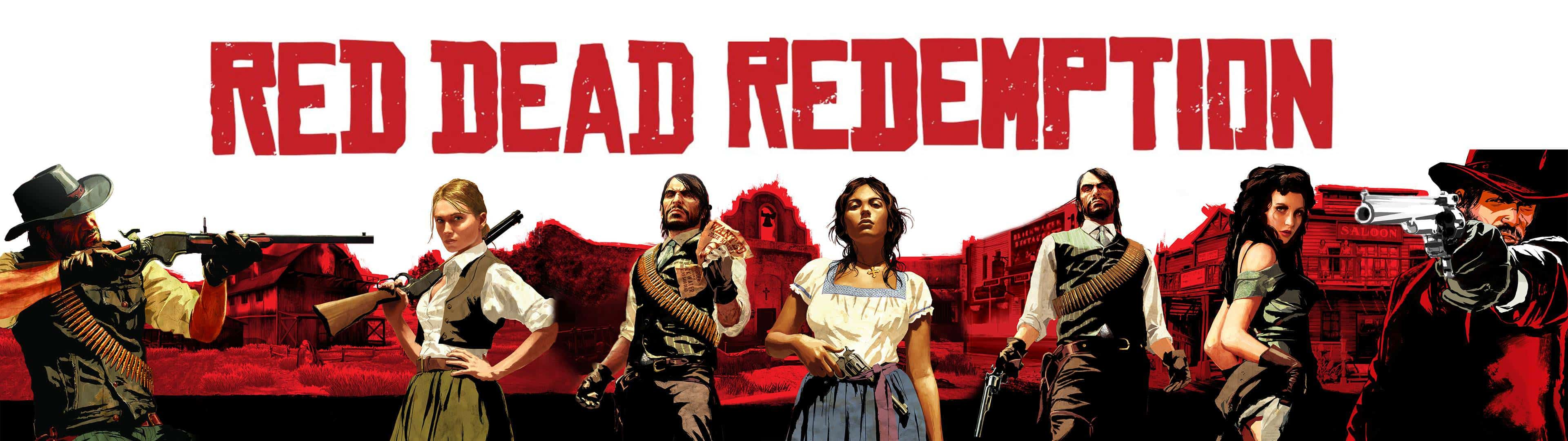 red dead redemption cover dual monitor wallpaper