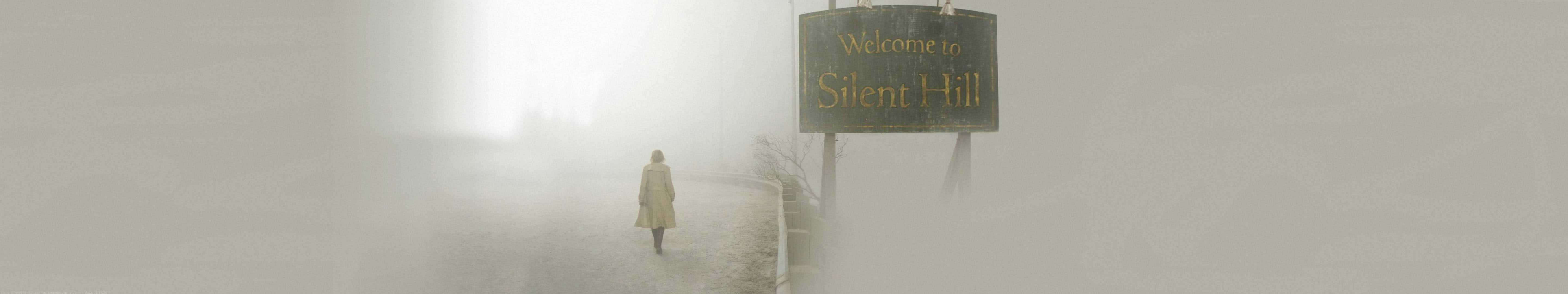 silent hill sign triple monitor wallpaper
