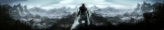 skyrim dragonborn triple monitor wallpaper
