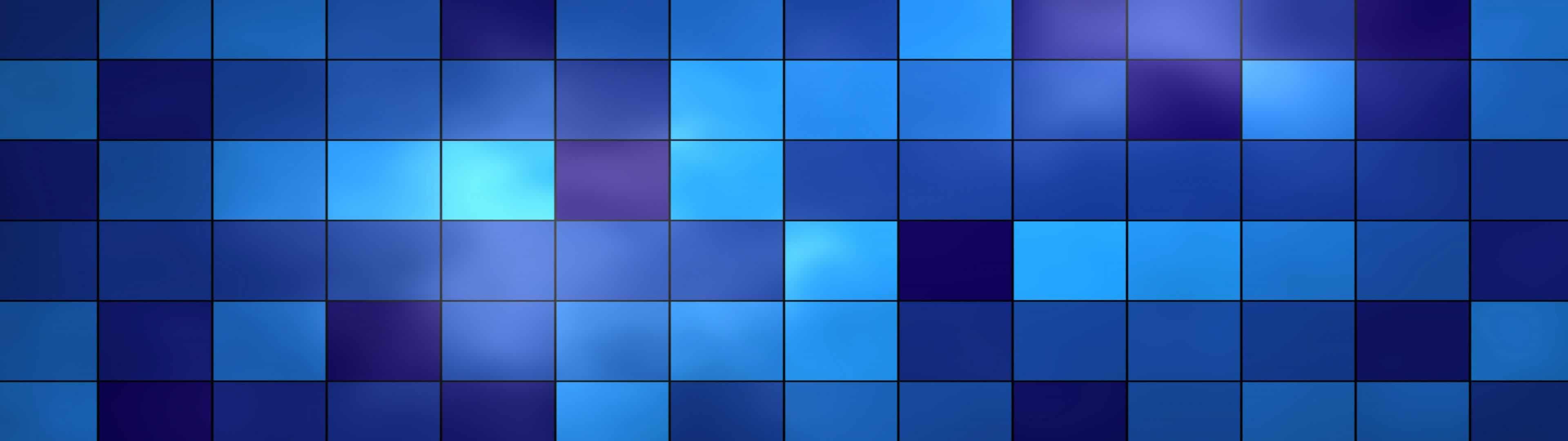 squares blue dual monitor wallpaper