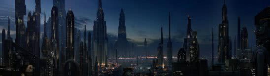 star wars coruscant dual monitor wallpaper