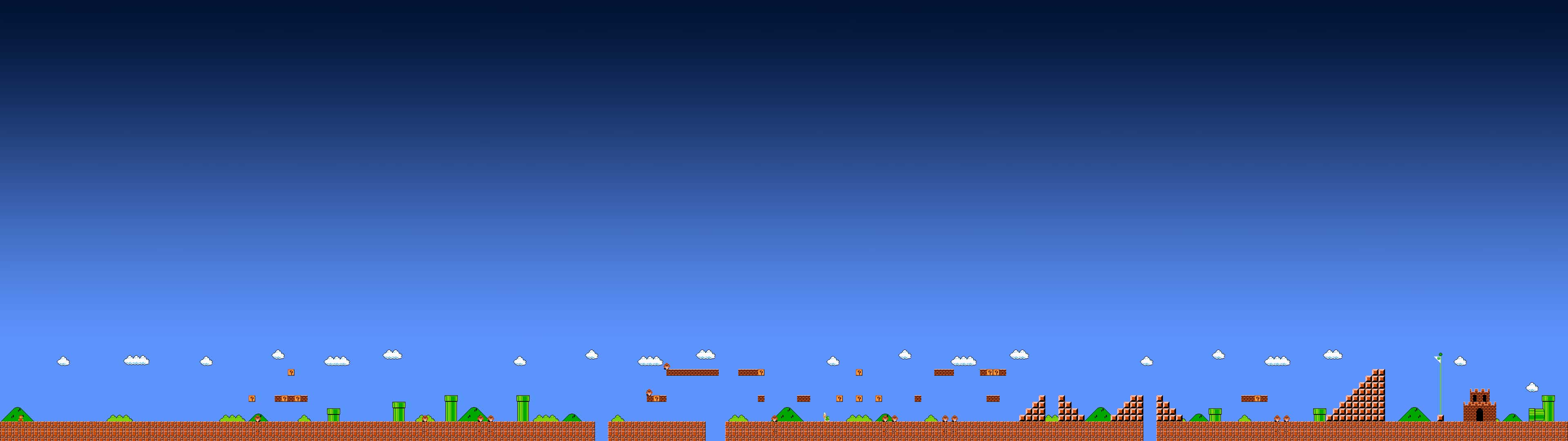 super mario bros dual monitor wallpaper