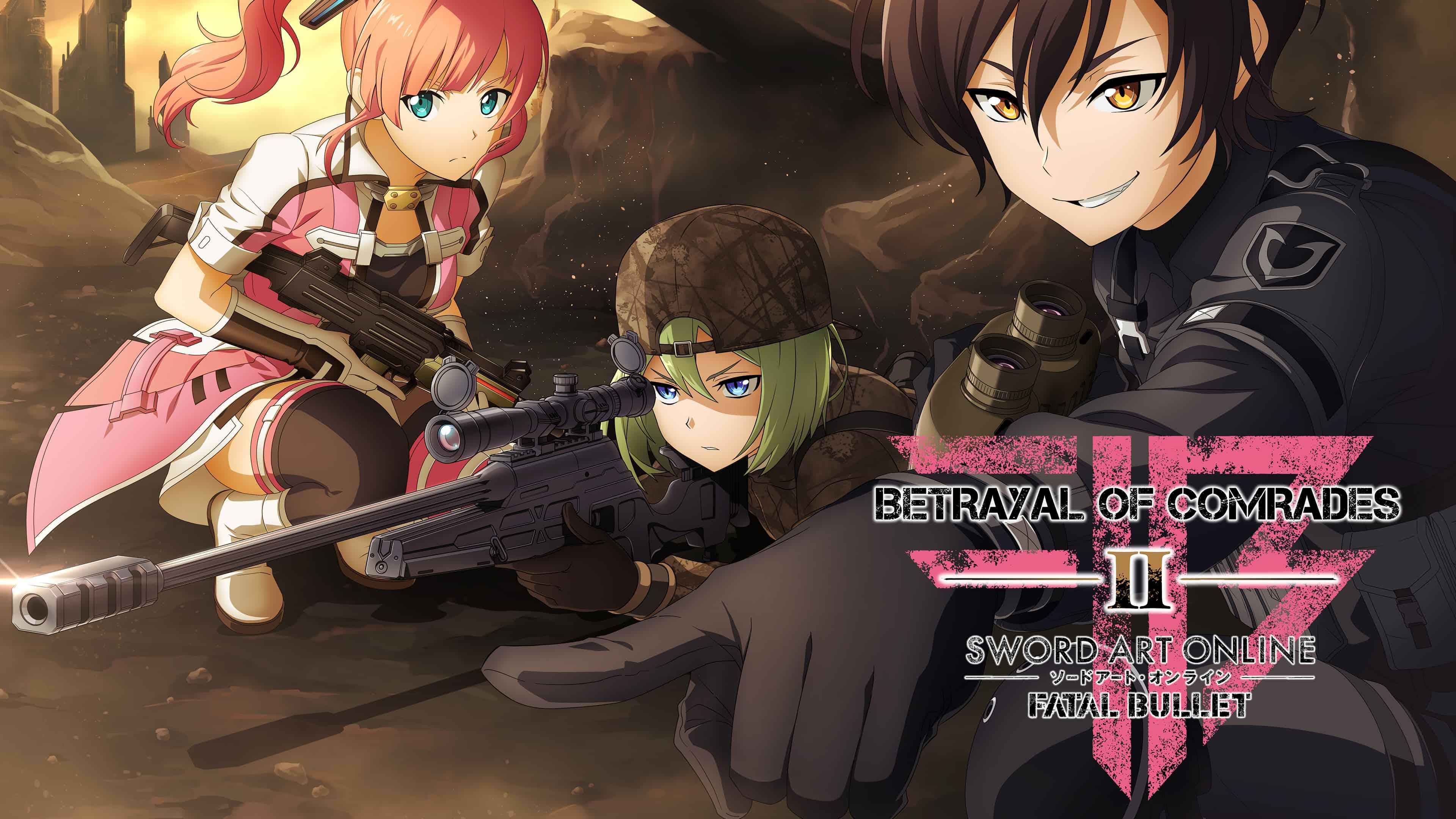 sword art online fatal bullet betrayal of comrades uhd 4k wallpaper