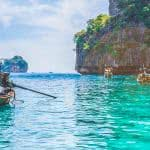 thailand long tail boats triple monitor wallpaper