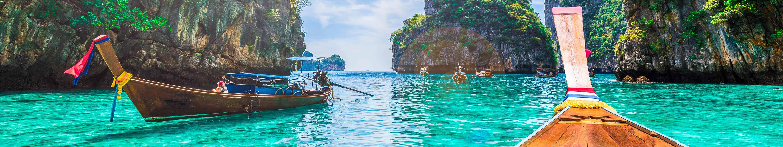 thailand long tail boats triple monitor wallpaper