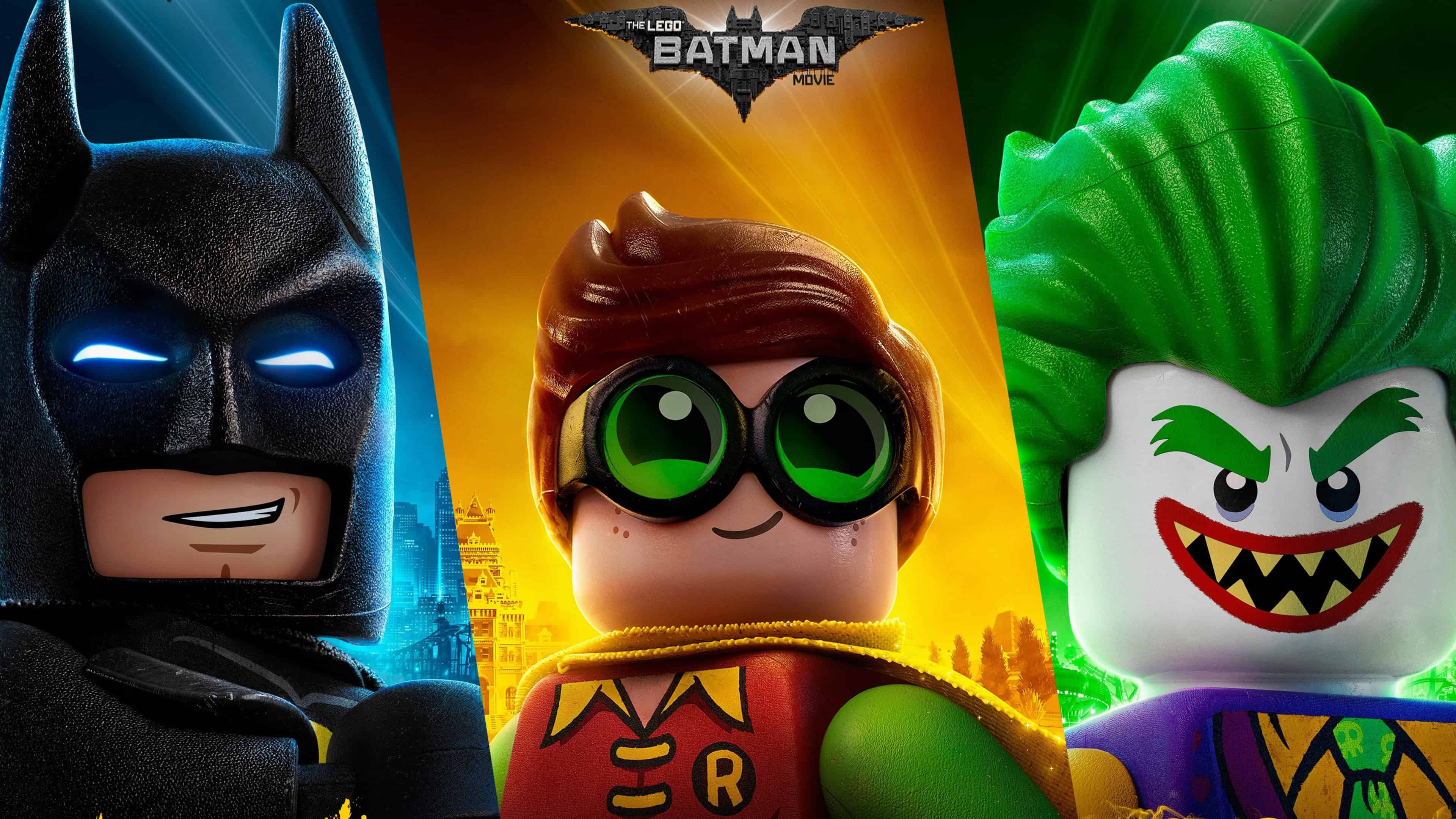 The Lego Batman Movie Joker Robin And Batman Uhd 4k