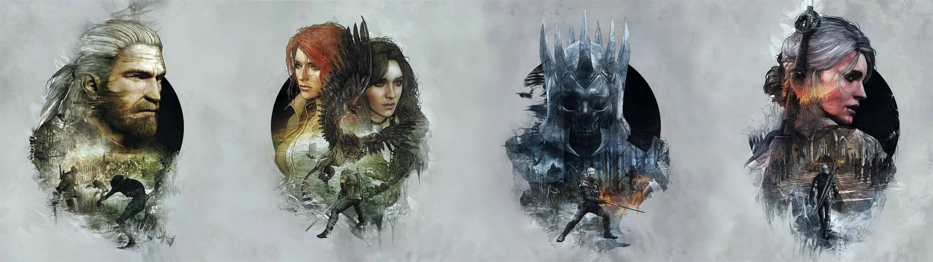 the witcher 3 wild hunt dual monitor wallpaper