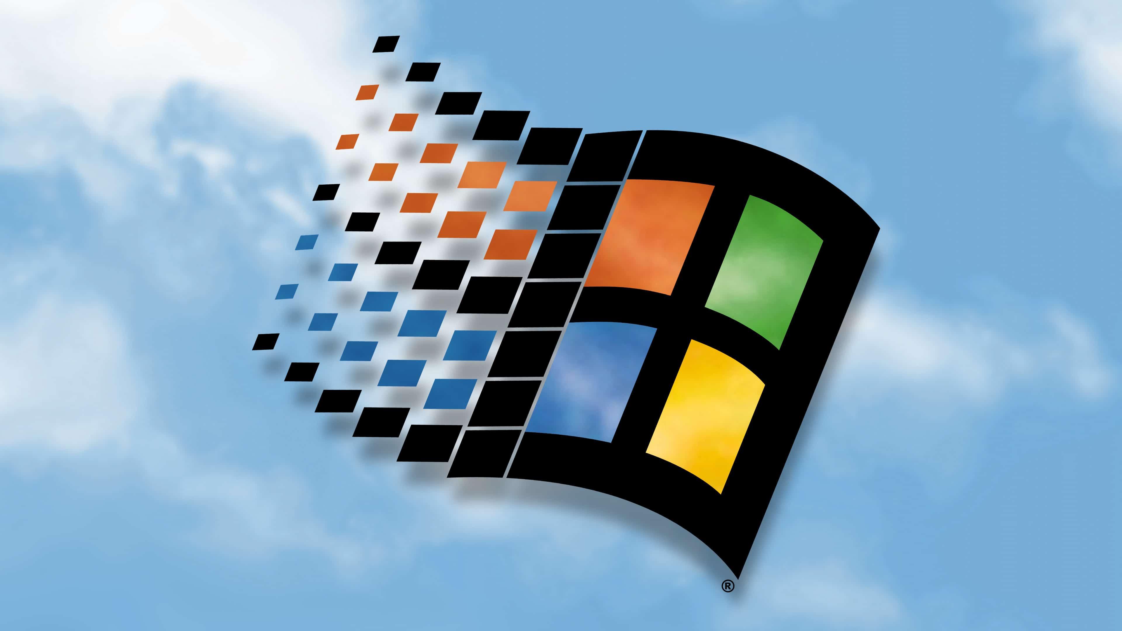 windows 98 logo uhd 4k wallpaper