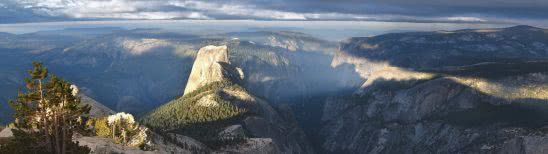yosemite national park -clouds rest mountain california united states dual monitor wallpaper