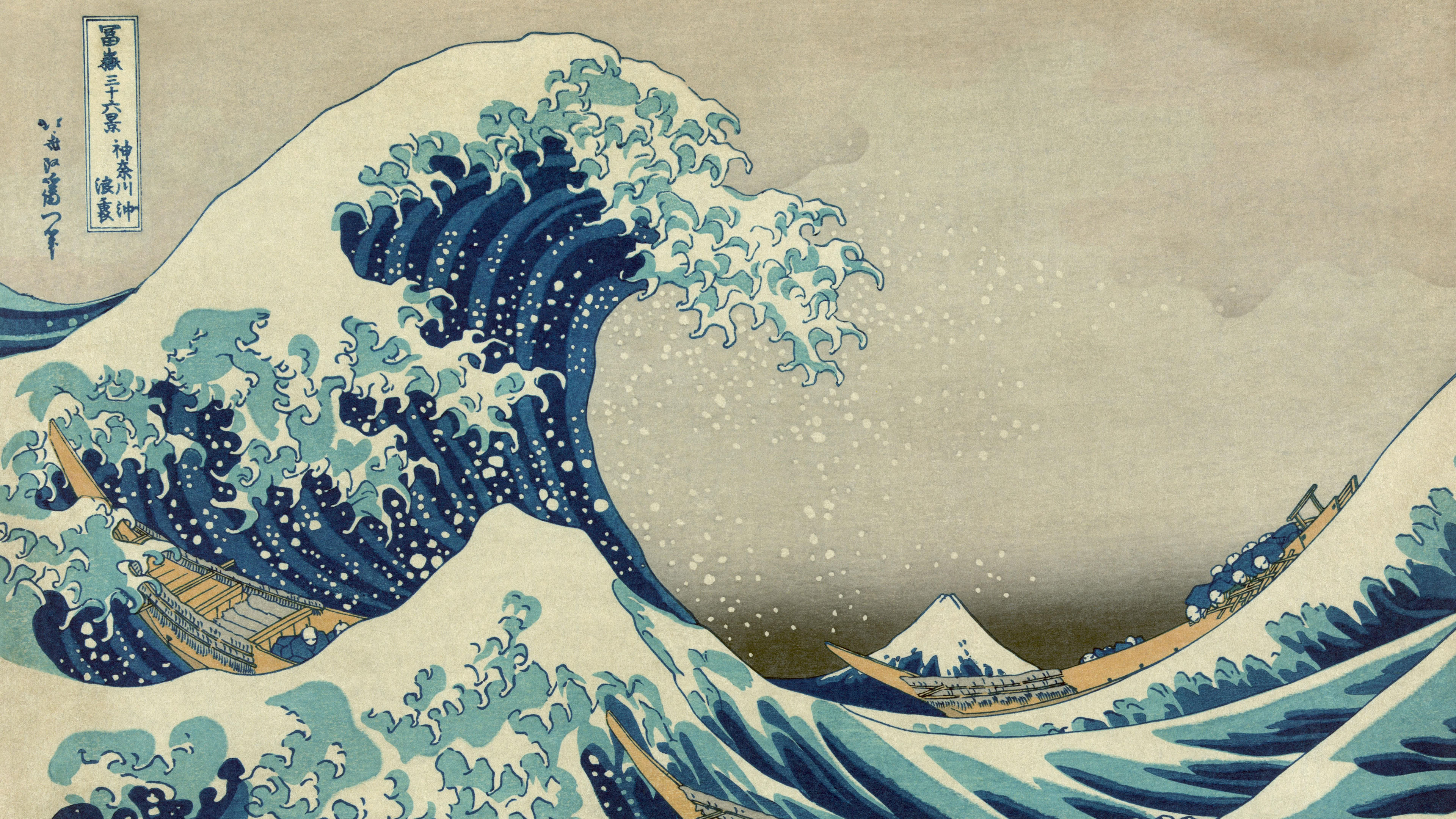 great wave off kanagawa uhd 4k wallpaper