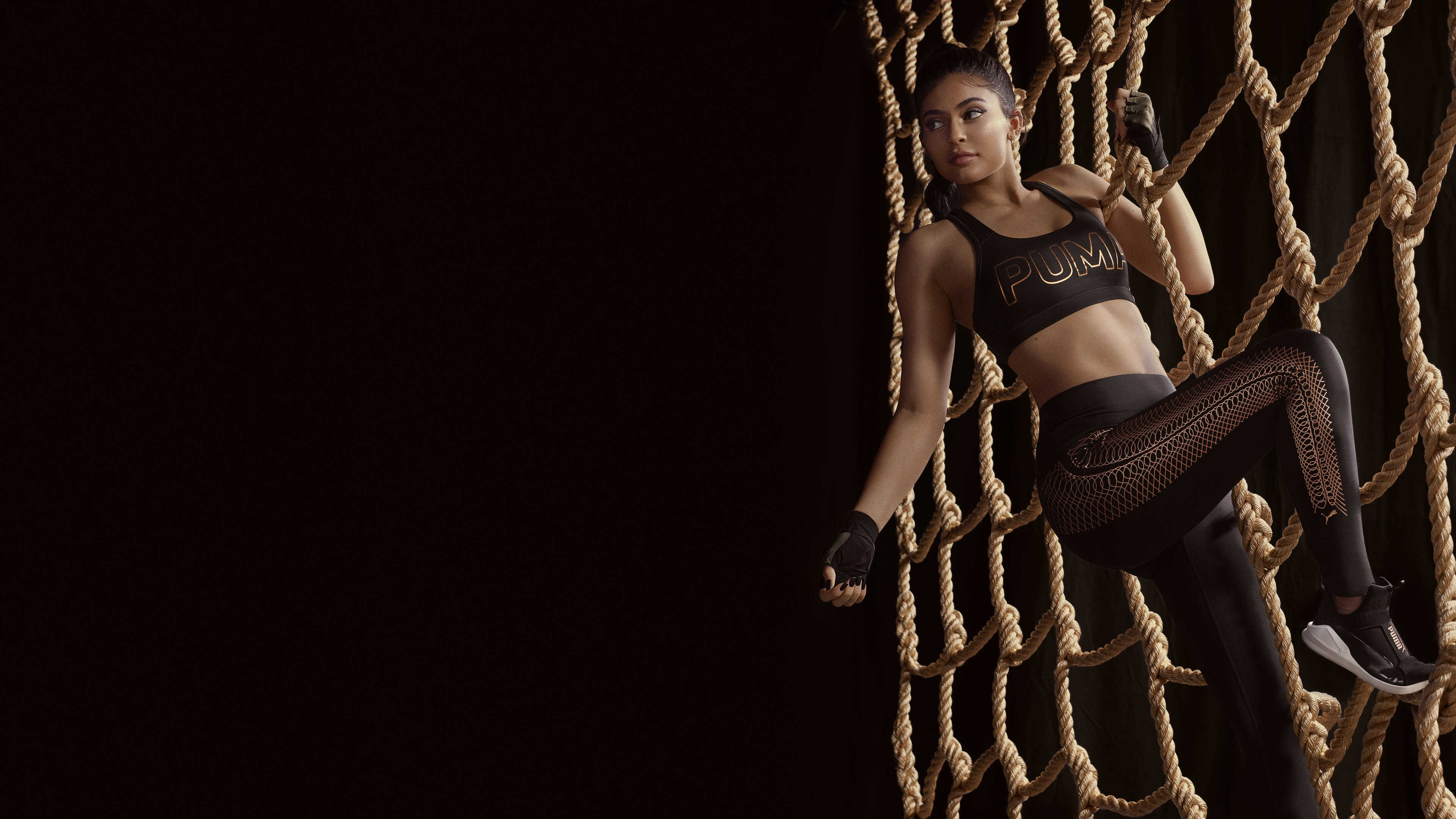 kylie jenner puma campaign velvet rope collection uhd 4k wallpaper