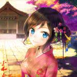 anime girl kimono wqhd 1440p wallpaper