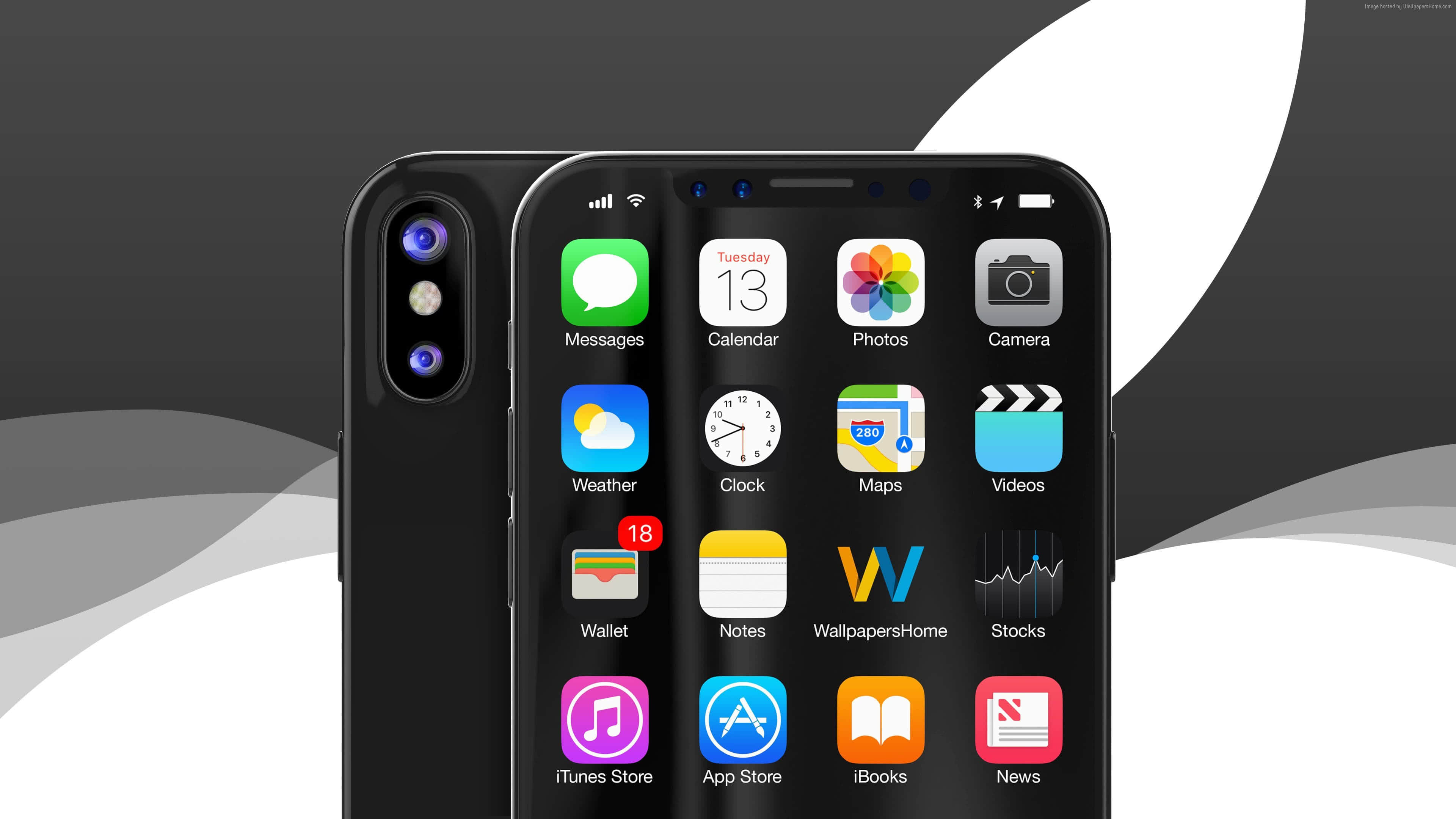 apple iphone x black uhd 4k wallpaper