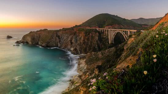 bixby bridge monterey california united states uhd 4k wallpaper