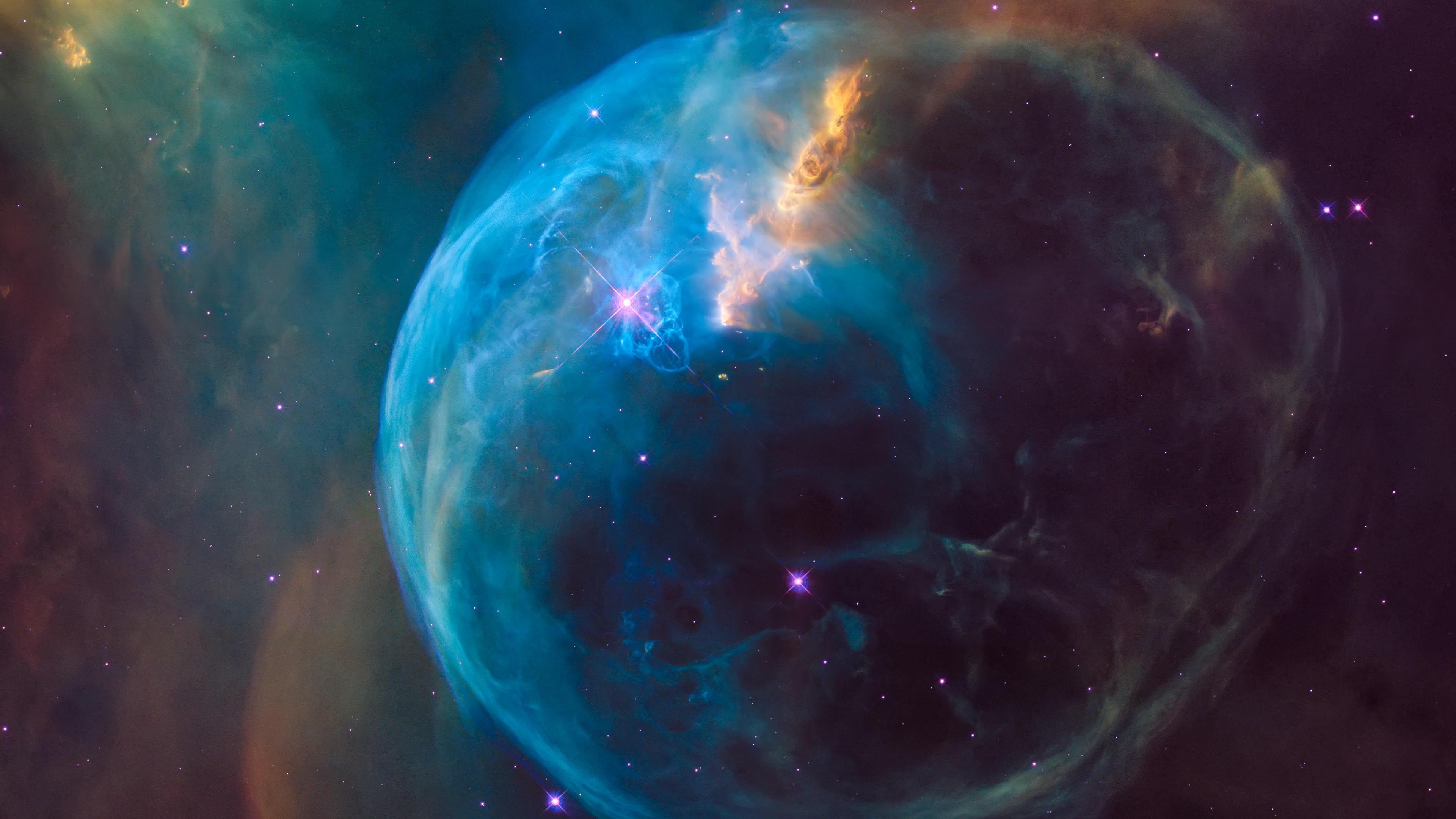 bubble nebula ngc 7635 uhd 4k wallpaper