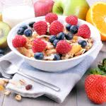Cereal And Fruit Breakfast